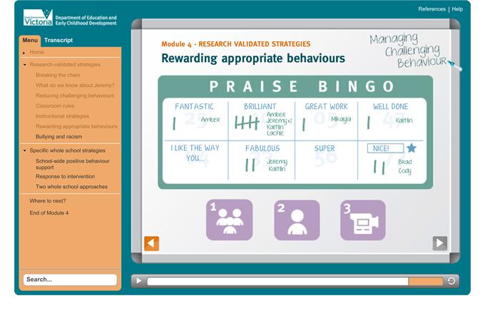 Managing Challenging Behaviour - Praise Bingo activity