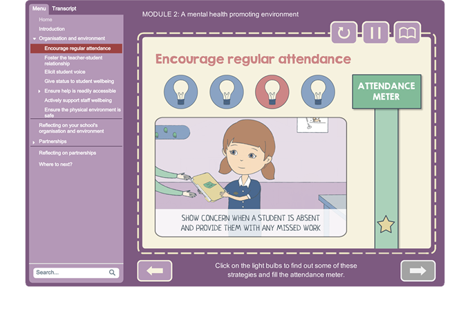 Promoting and supporting mental health - Attendance meter