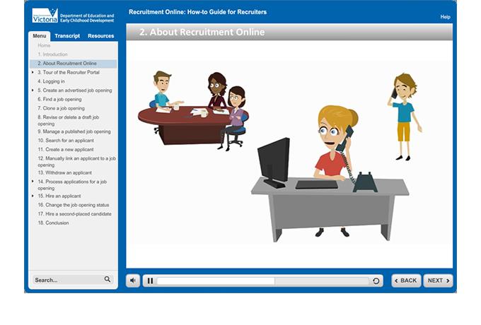 Recruitment Online - Animation