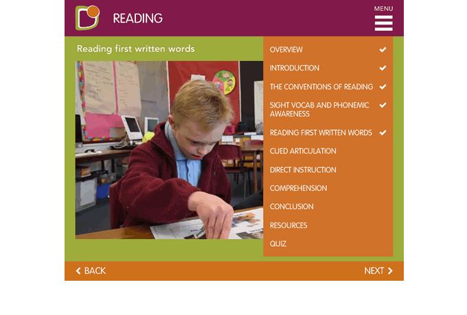 Down-Syndrome-Victoria-Reading-menu