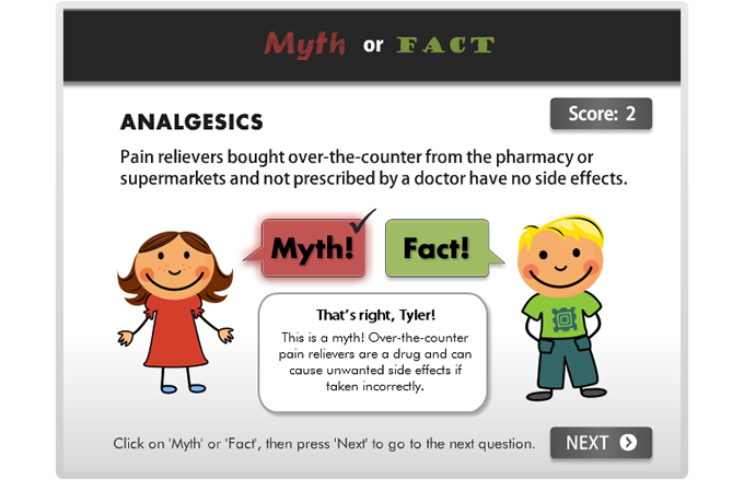 Drug Education eBookbox - Myth or Fact quiz