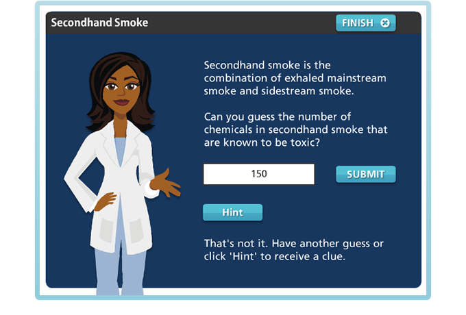 Drug Education eBookbox - Secondhand Smoke - Guess the number quiz