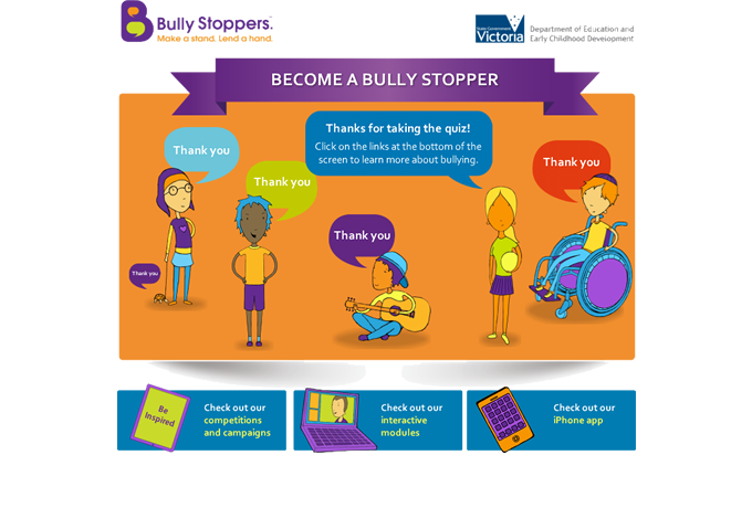 Become a Bully Stopper quiz - Conclusion
