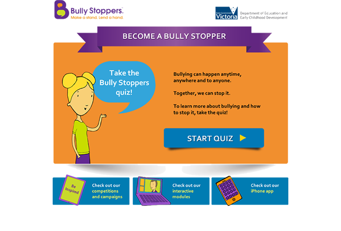 Become a Bully Stopper quiz - Introduction
