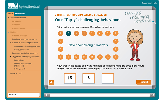 Managing Challenging Behaviour - Top 3 challenging behaviours activity