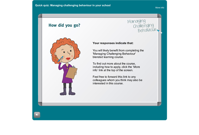 Managing Challenging Behaviour quiz - Conclusion