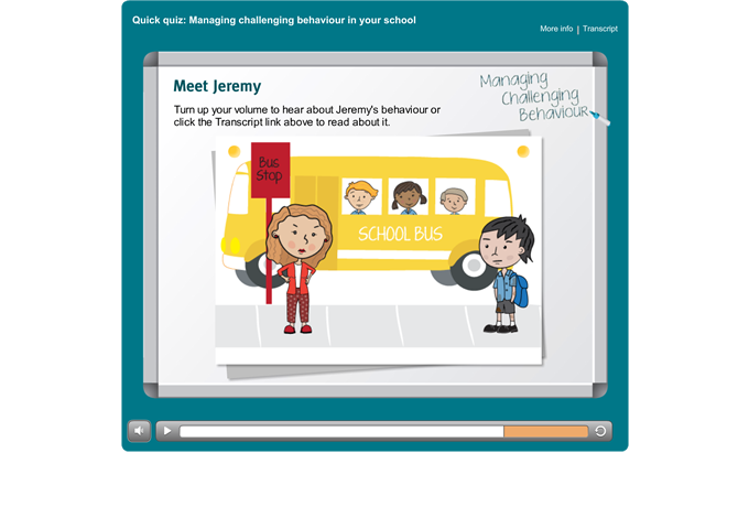 Managing Challenging Behaviour quiz - Introduction