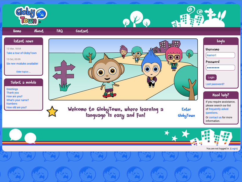 GlobyTown Language Learning Portal - Moodle LMS - Thumbnail